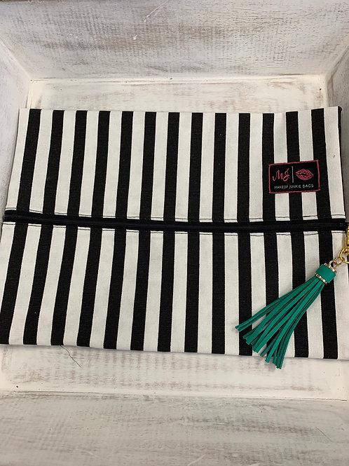 Makeup Junkie Bags Glam Stripe Large