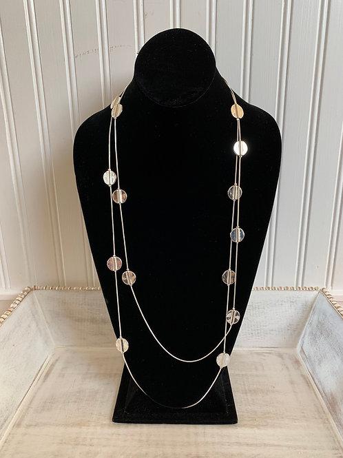 Lauren Michael Silver Mini Circle Pendant Necklace