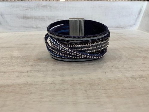 Lauren Micheal Blue Sequence Stackable Bracelet