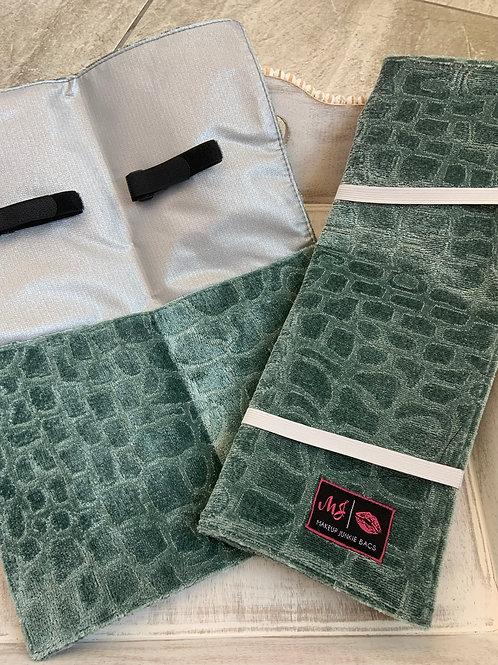 Makeup Junkie Bags Hot Tools Blue Velvet Gator