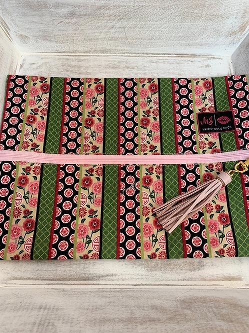 Makeup Junkie Bags Turnkey Pink Floral Large