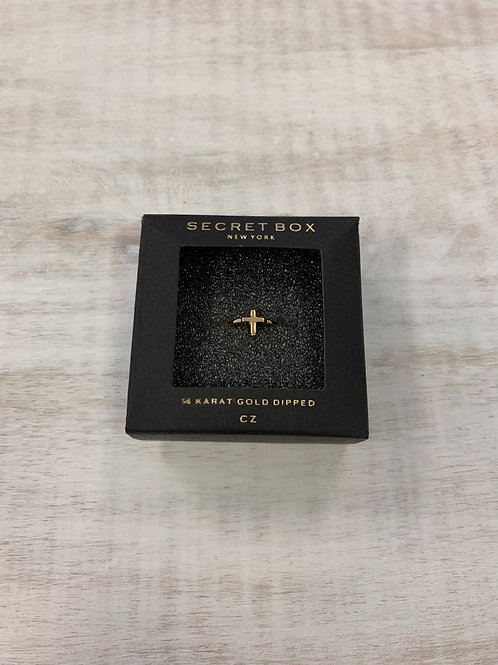 Secret Box Cross Ring