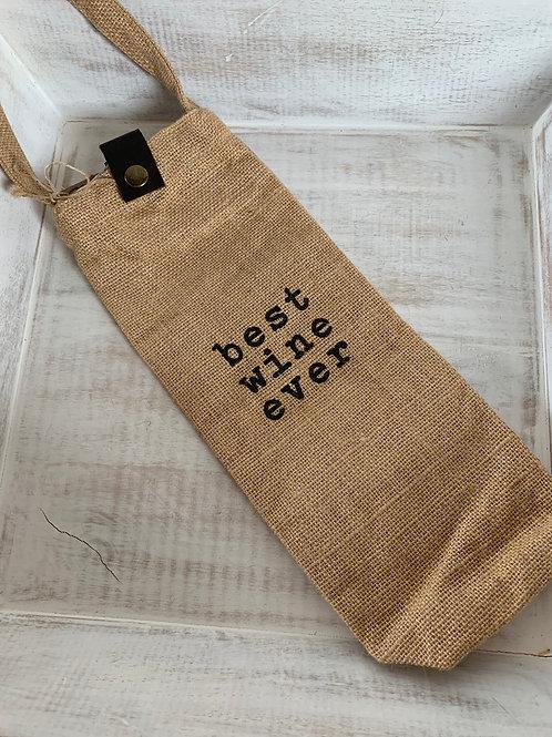 Mud Pie Best Wine Ever Bag
