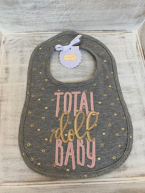 Mud Pie Total Doll Baby Bib