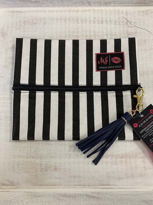 Makeup Junkie Bags Glam Stripe Small