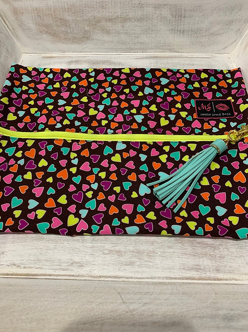 Makeup Junkie Bags Happy Hearts Large