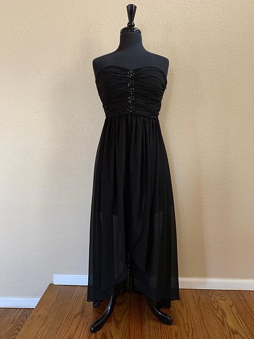 YA High- Low Tube Dress Black