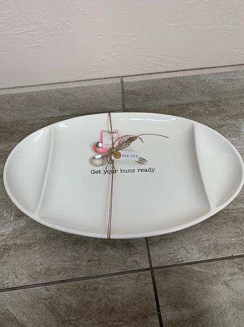 Mud Pie Buns Ready Platter Set