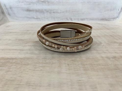 Lauren Michael White Pearl Thread Bracelet