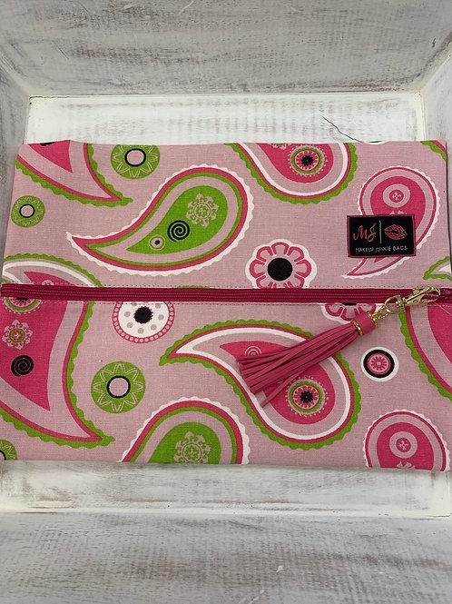 Makeup Junkie Bags Pink Paisley Large