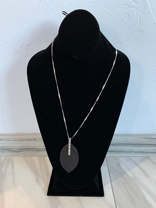 CSCO Black Feather Necklace