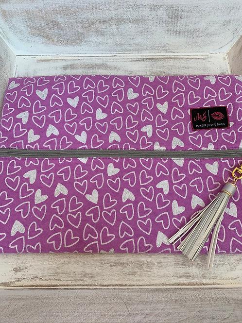 Makeup Junkie Bags Destash Pink Hearts Large