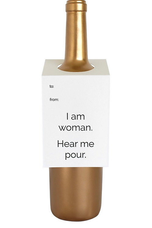 I Am Woman Wine and Spirit Tag