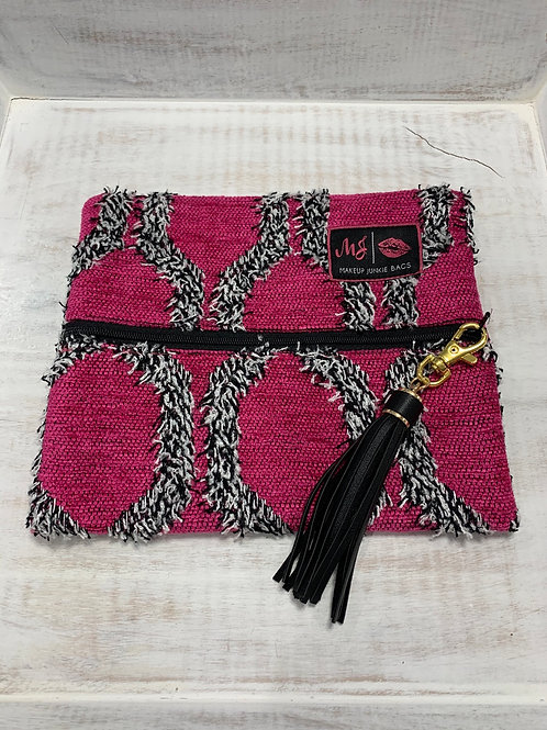 Makeup Junkie Bags Pink Shag Small