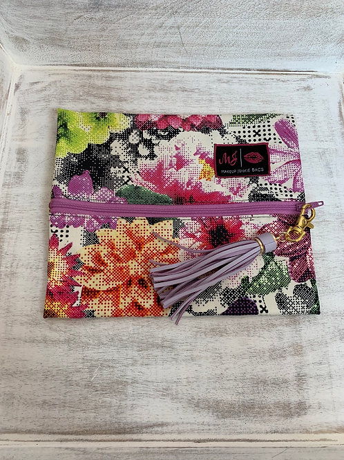 Makeup Junkie Bags Digital Floral Small