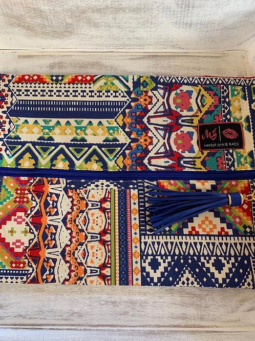 Makeup Junkie Bags Colorful Aztec Large