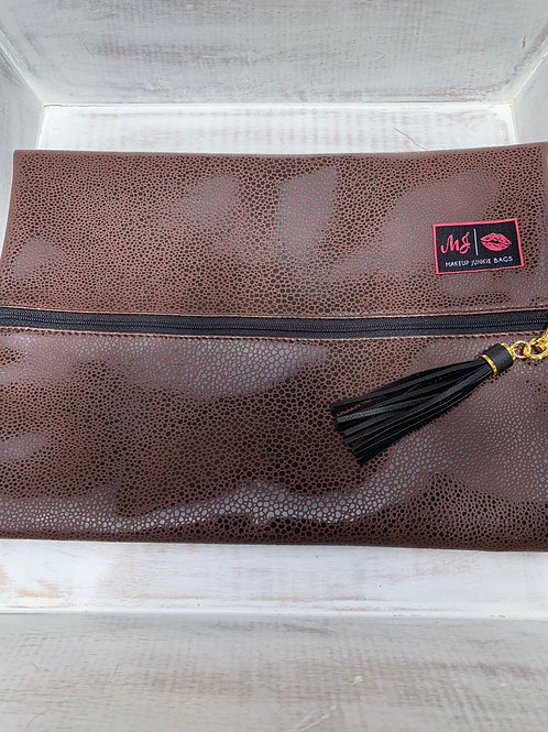 Makeup Junkie Bags Destash Brown Pebble Large