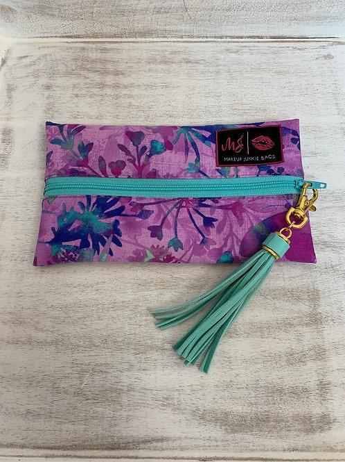 Makeup Junkie Bags Turnkey Purple Plants Mini