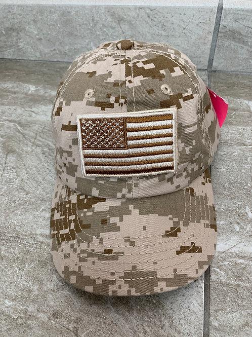 Velcro American Flag Hat