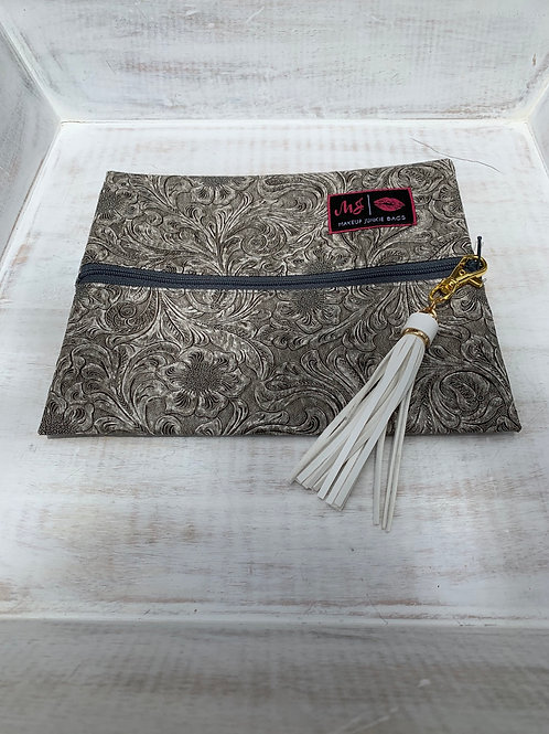 Makeup Junkie Bags Destash Southern Charm Gray Zipper Small