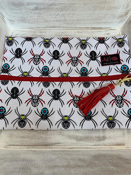 Makeup Junkie Bags Destash Black Widow Red Zipper Large