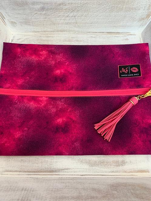 Makeup Junkie Bags Turnkey Pink Tie Dye Large