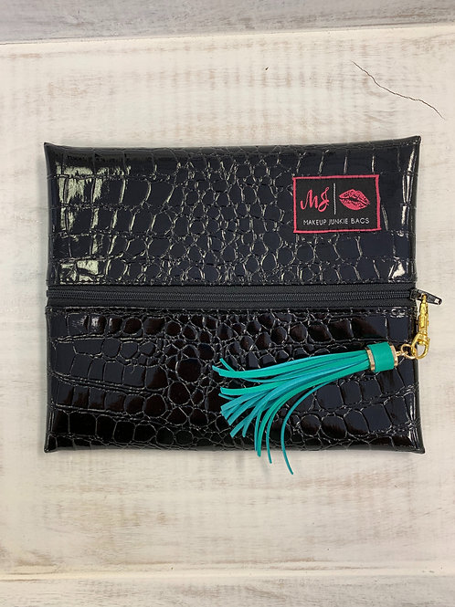Makeup Junkie Bags Midnight Gator Small