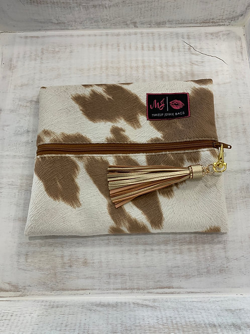 Makeup Junkie Bags Tan Your Hide Small