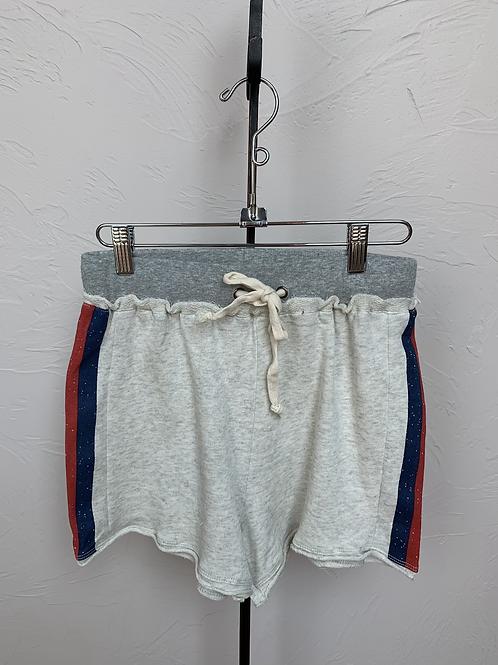 Hem and Thread Stripe Shorts