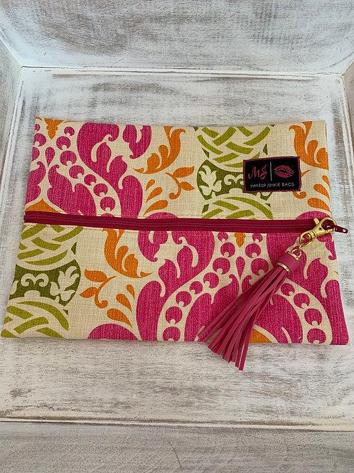 Makeup Junkie Bags Destash Orange and Pink Medium