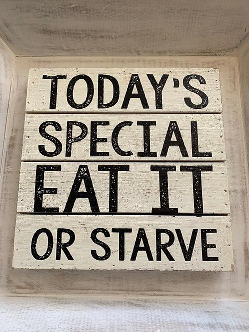 Mud Pie Today's Special Plaque