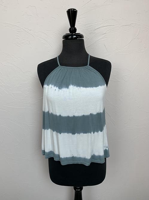 Hem and Thread Crochet Tie Dye Tank