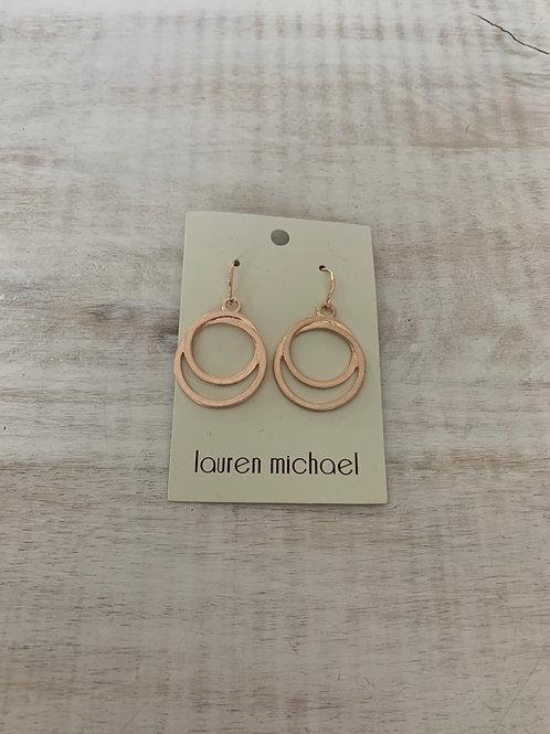 Lauren Michael Rose Gold Double Hoops