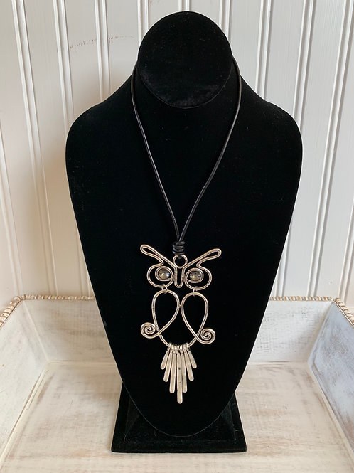 Lauren Michael Wire Owl with Crystal Eyes