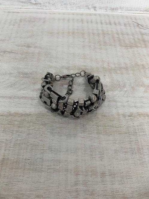 Lauren Michael Geometric Web Cord Bracelet