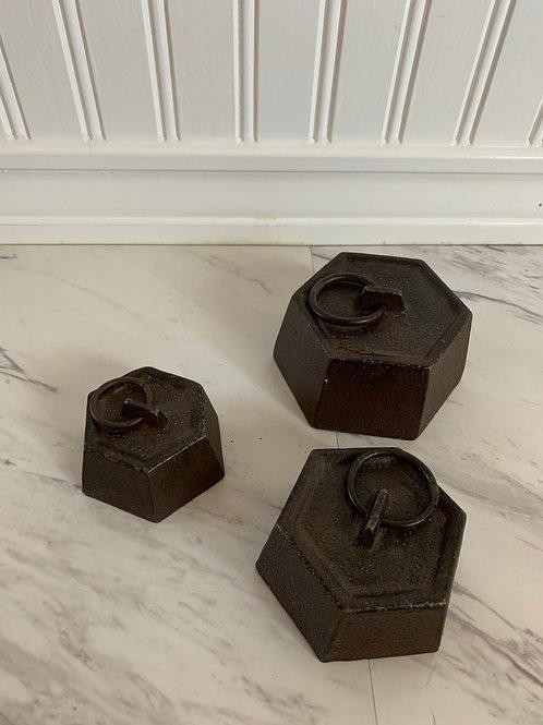 Cast Iron Paper Weight Set