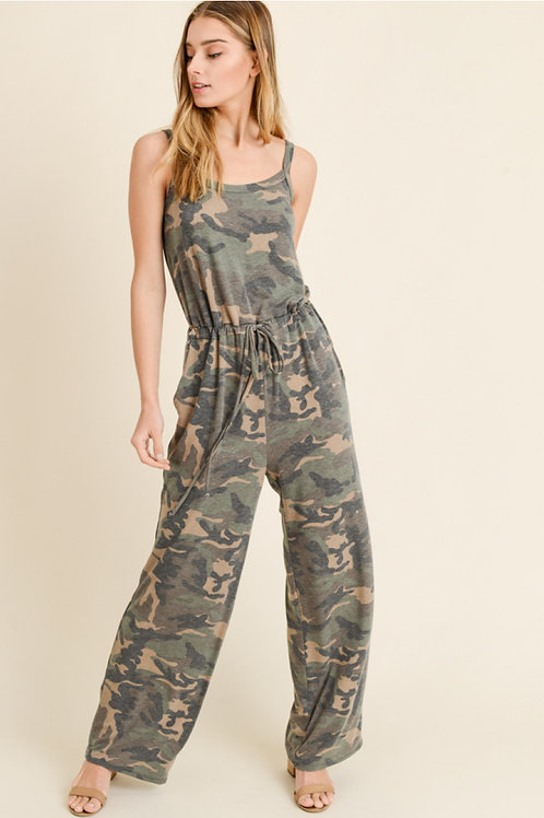 First Love Camo Jumpsuit