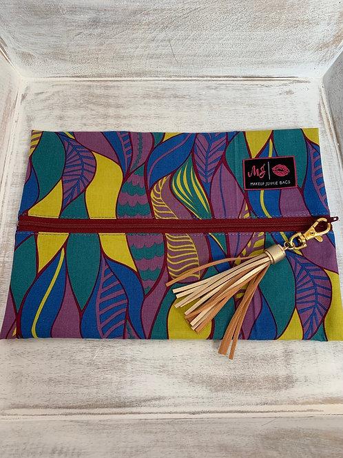 Makeup Junkie Bags Turnkey Leaves Glam Stripe Medium