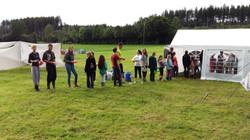Zeltlager 16 - Anstehen fürs Essen