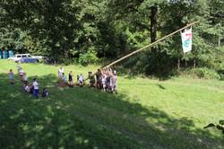Zeltlager 17 - Aufstellen des Bannermastes