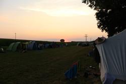 Zeltlager 18 - Sonnenuntergang über dem Zeltplatz