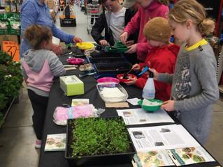 Children and Microgreens!