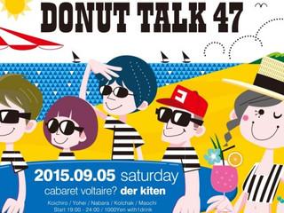 第36回メインゲスト:DJパーティー『ドーナツトーク』様 2015年9月7日(月曜夜)24:00-24:30 放送