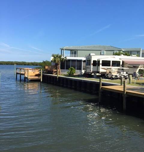 Canal waterway florida island Nettles Island beachfront