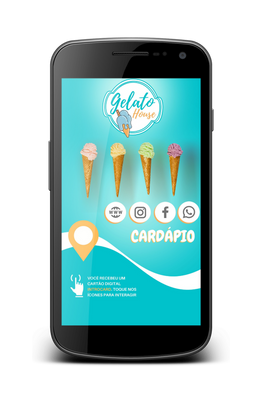 Cartão Interativo sorveteria