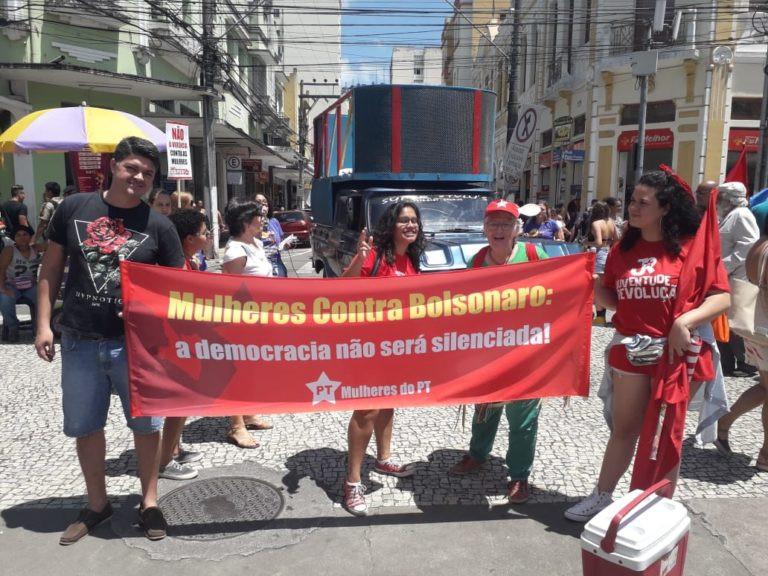 Com as Mulheres do PT, contra o Bolsonaro.