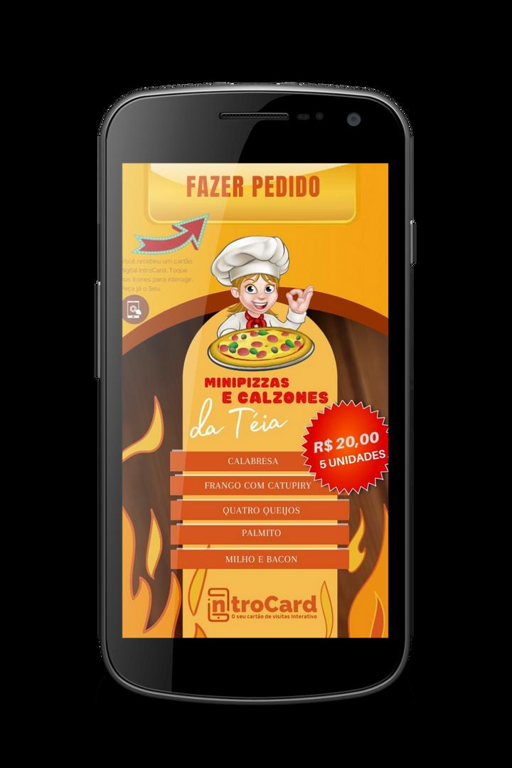 Cartão Interativo Pizza