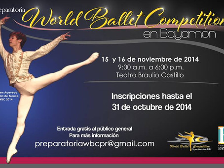 World Ballet Competition en Bayamon, Puerto Rico