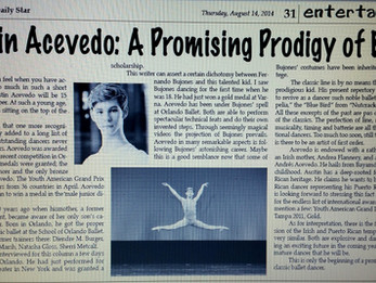 A Promising Prodigy of Ballet - El San Juan Star Puerto Rico by Max Gonzalez