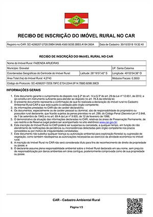 CAR Cadastro Ambiental Rural